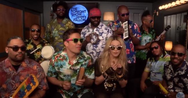 Jimmy Fallon and Madonna Sing Holiday
