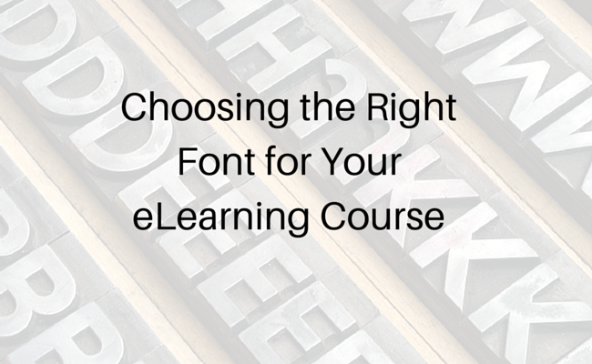 fonts and elearning