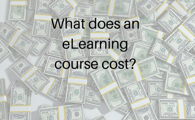 What does an eLearning course cost?
