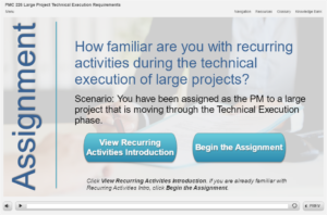 Assignment selection screen